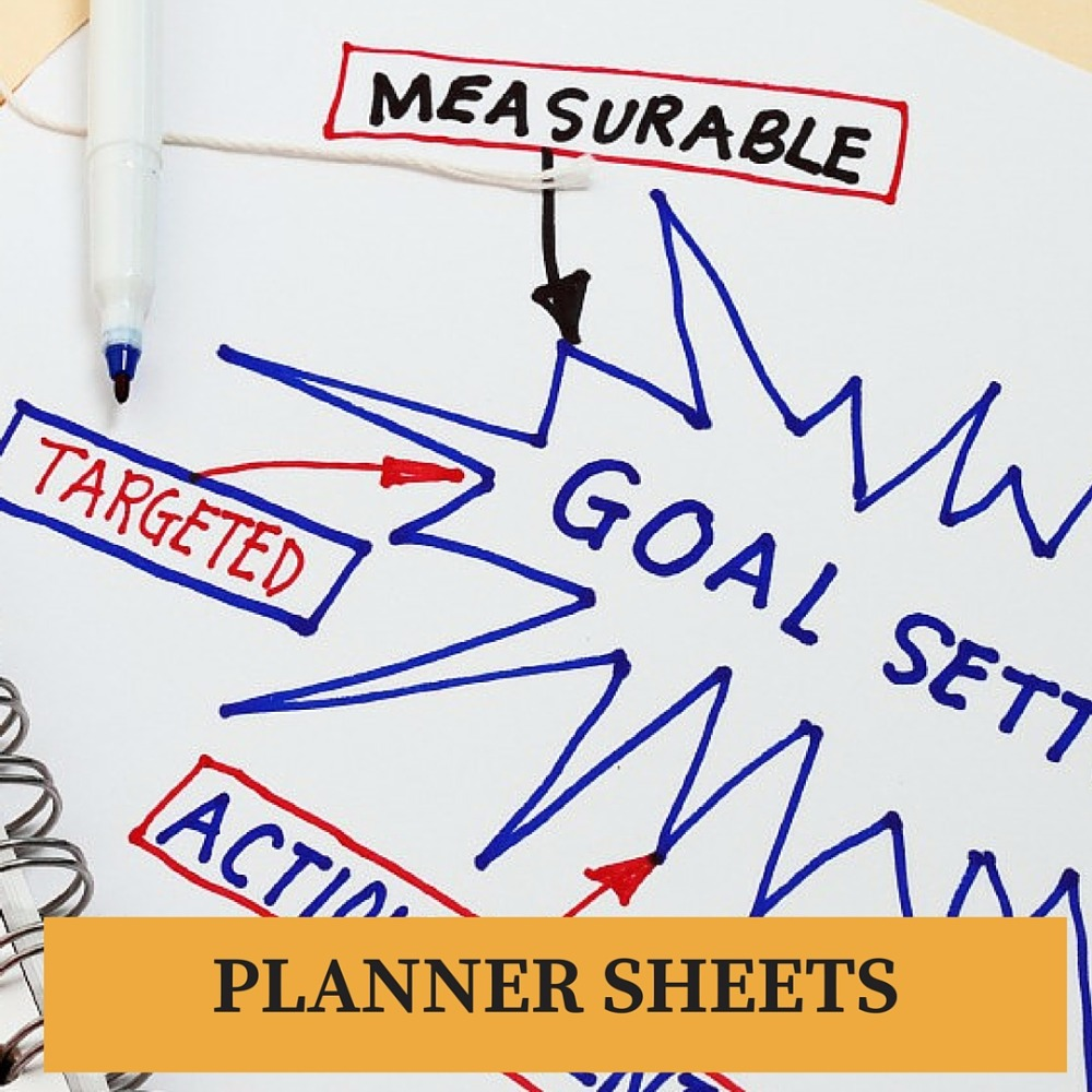 Goal-Conquering MONTHLY Planner Sheet