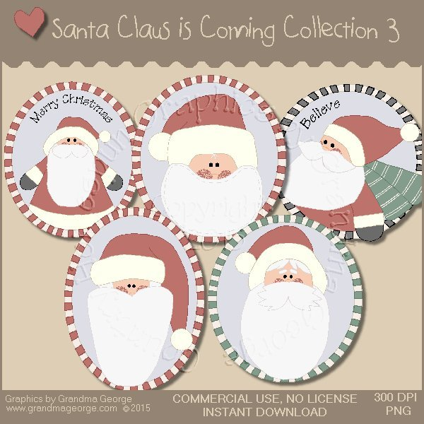 Santa Claus is Coming Country Graphics Vol. 3