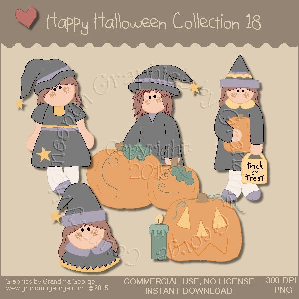 Happy Halloween Graphics Collection Vol. 18