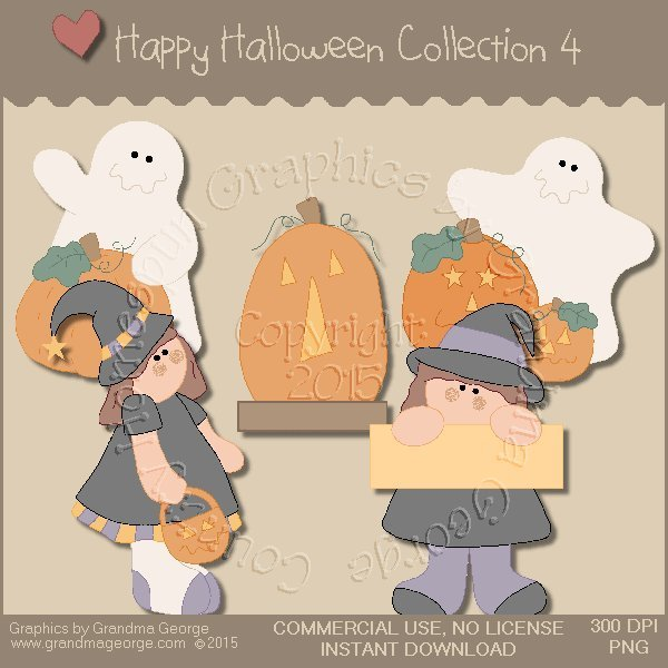 Happy Halloween Graphics Collection Vol. 4