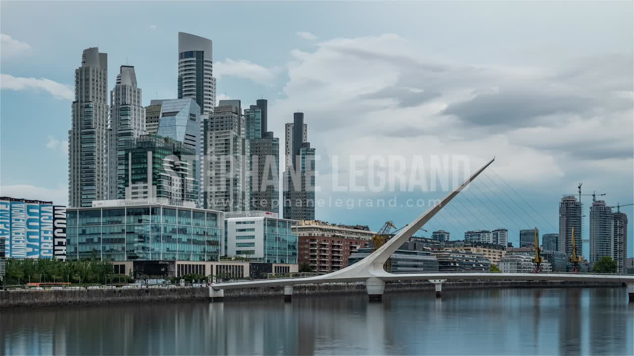 Buenos Aires, Argentina, Timelapse  - The Financial District of Buenos Aires called Puerto Madero du