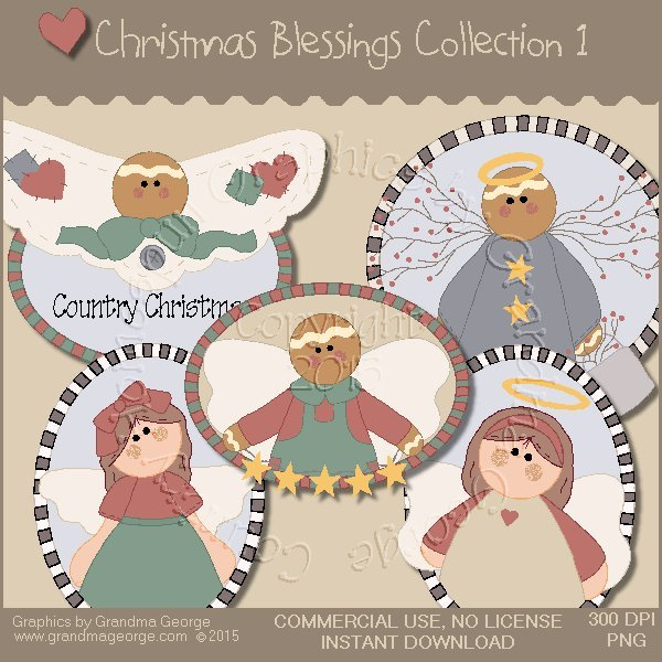 Christmas Blessings Graphics Collection Vol. 1
