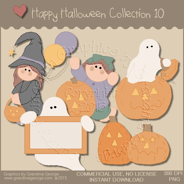 Happy Halloween Graphics Collection Vol. 10