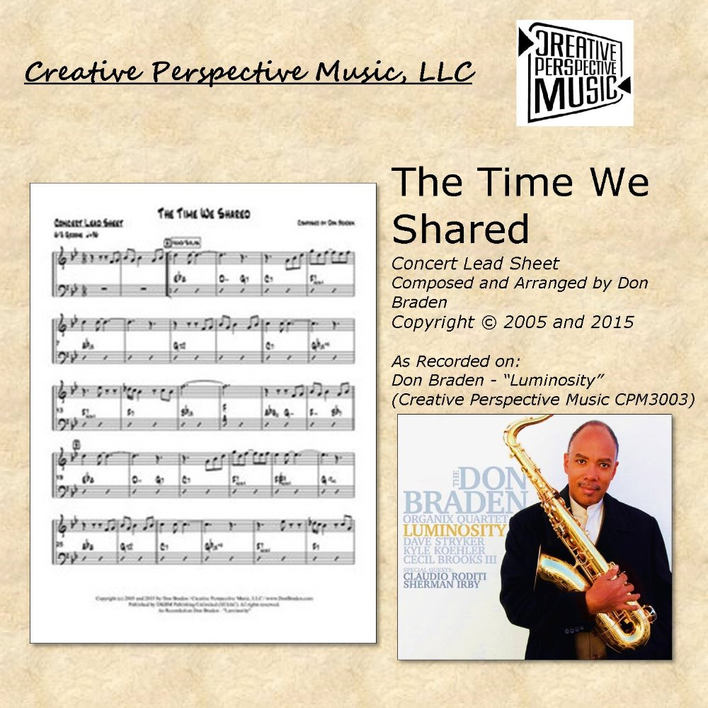 The Time We Shared - Concert Lead Sheet