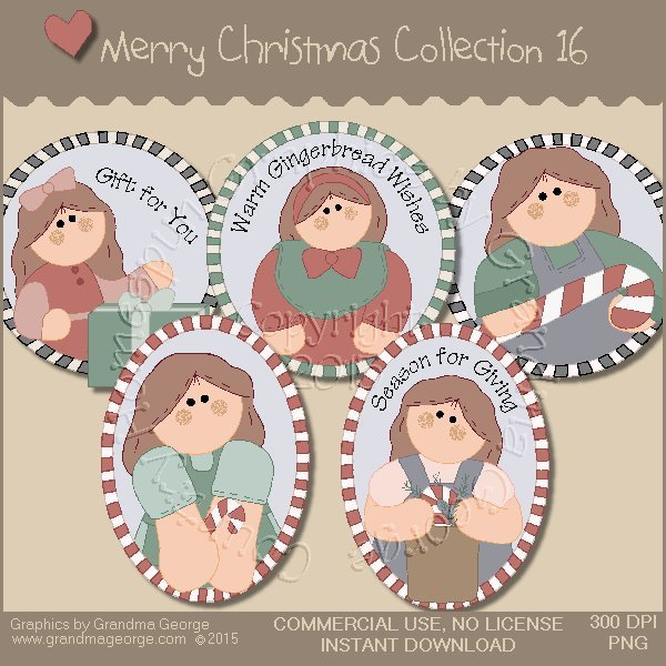 Merry Christmas Graphics Collection Vol. 16
