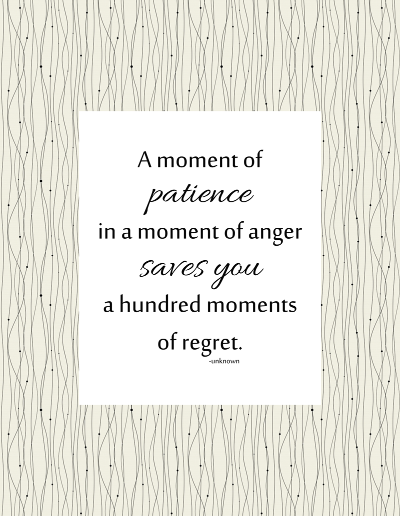 Patience vs Regret Printable