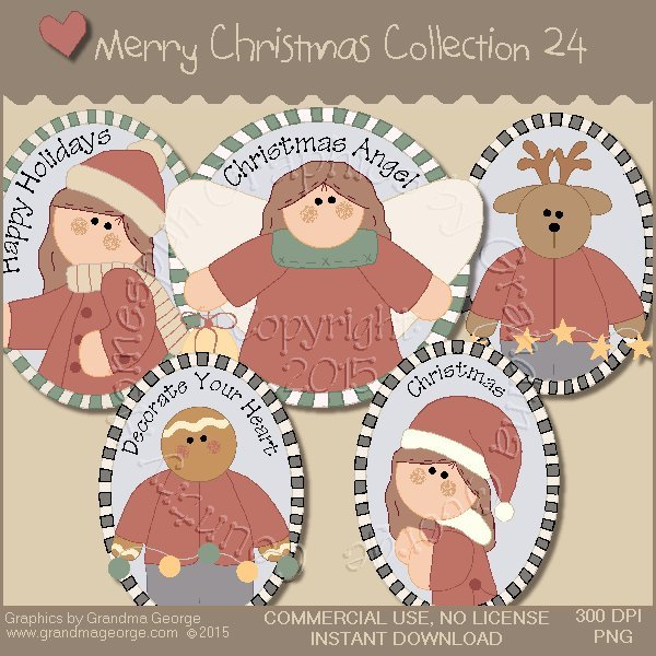 Merry Christmas Graphics Collection Vol. 24