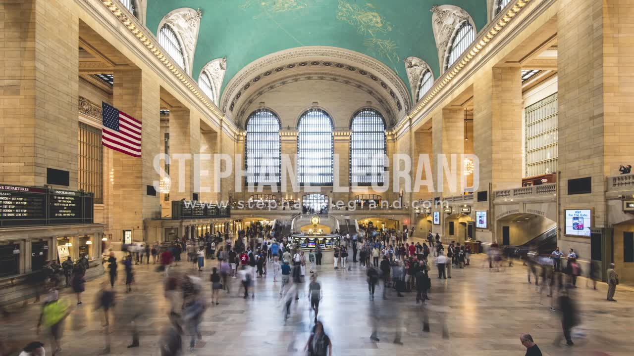 New York City , USA, Timelapse  - Grand Central Terminal in New York City