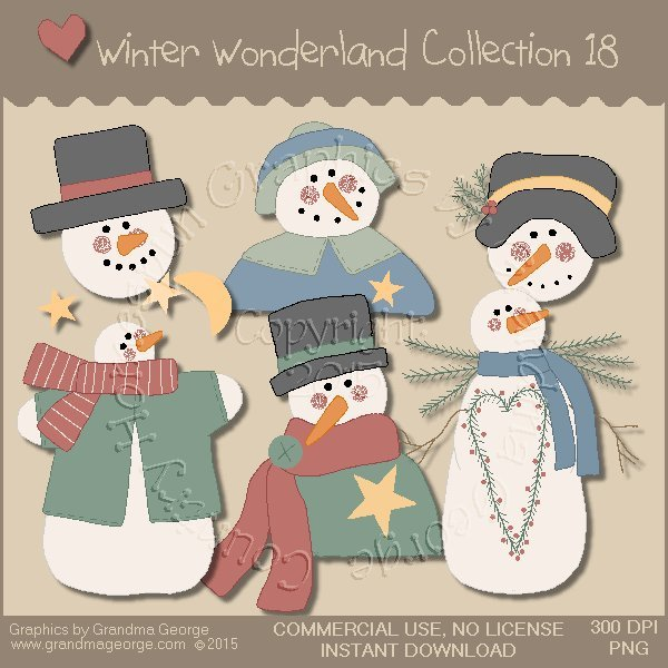 Winter Wonderland Country Graphics Collection Vol. 18