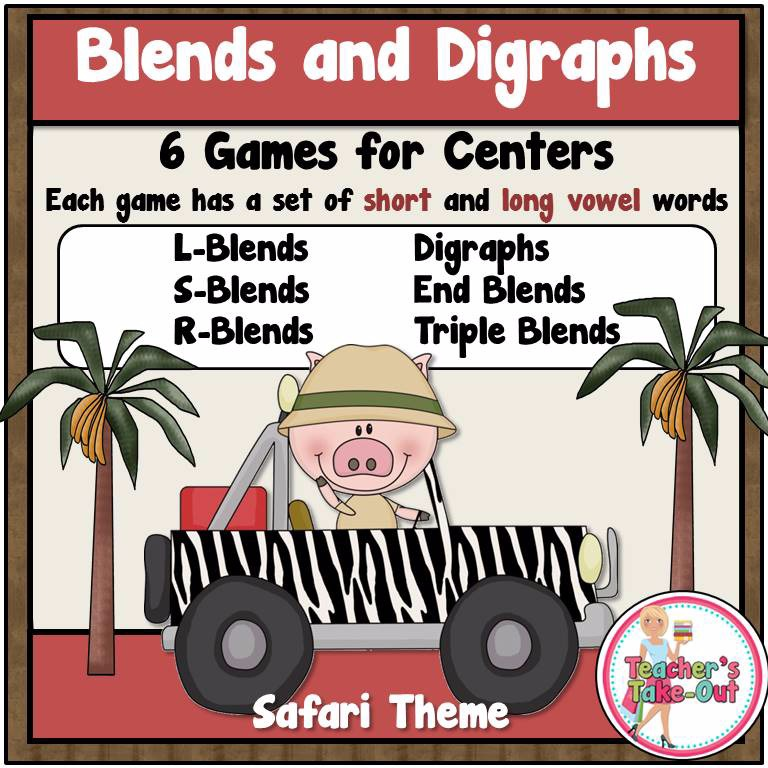 Blends and Digraph File Folder Games