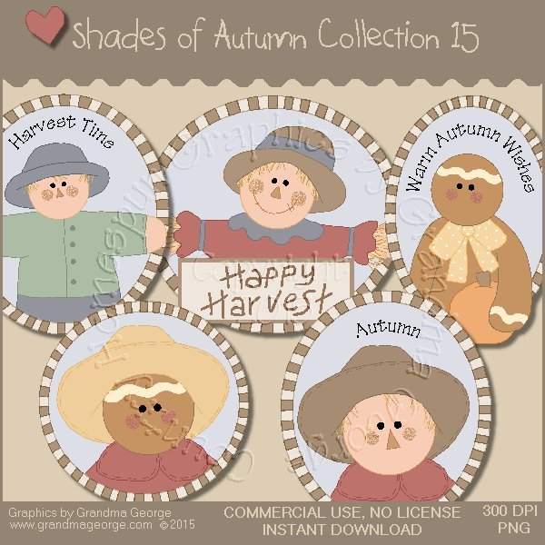 Shades of Autumn Graphics Collection Vol. 15