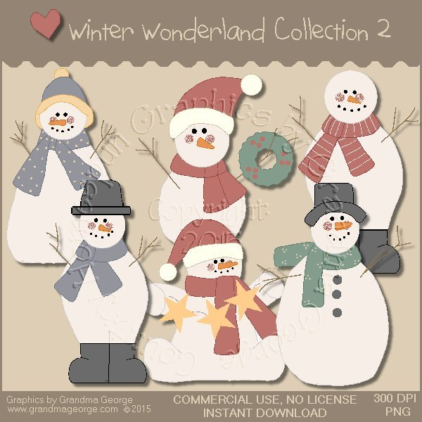 Winter Wonderland Country Graphics Collection Vol. 2