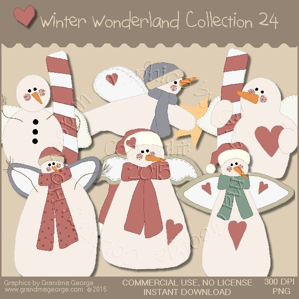 Winter Wonderland Country Graphics Collection Vol. 24