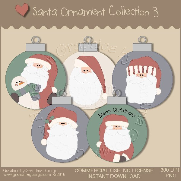 Santa Ornament Collection Vol. 3