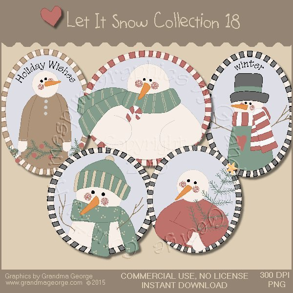 Let It Snow Country Graphics Collection Vol. 18