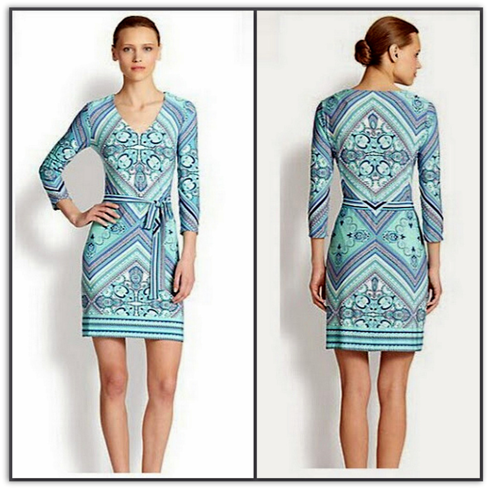 Emilio Pucci Silk Jersey Shift Dress L1286