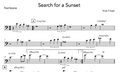 Search for a Sunset - Digital Sheet Music