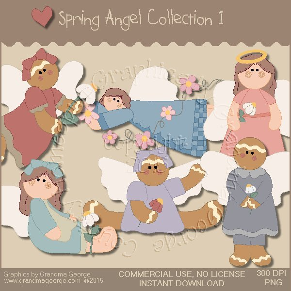 Spring Angel Graphics Collection Vol. 1