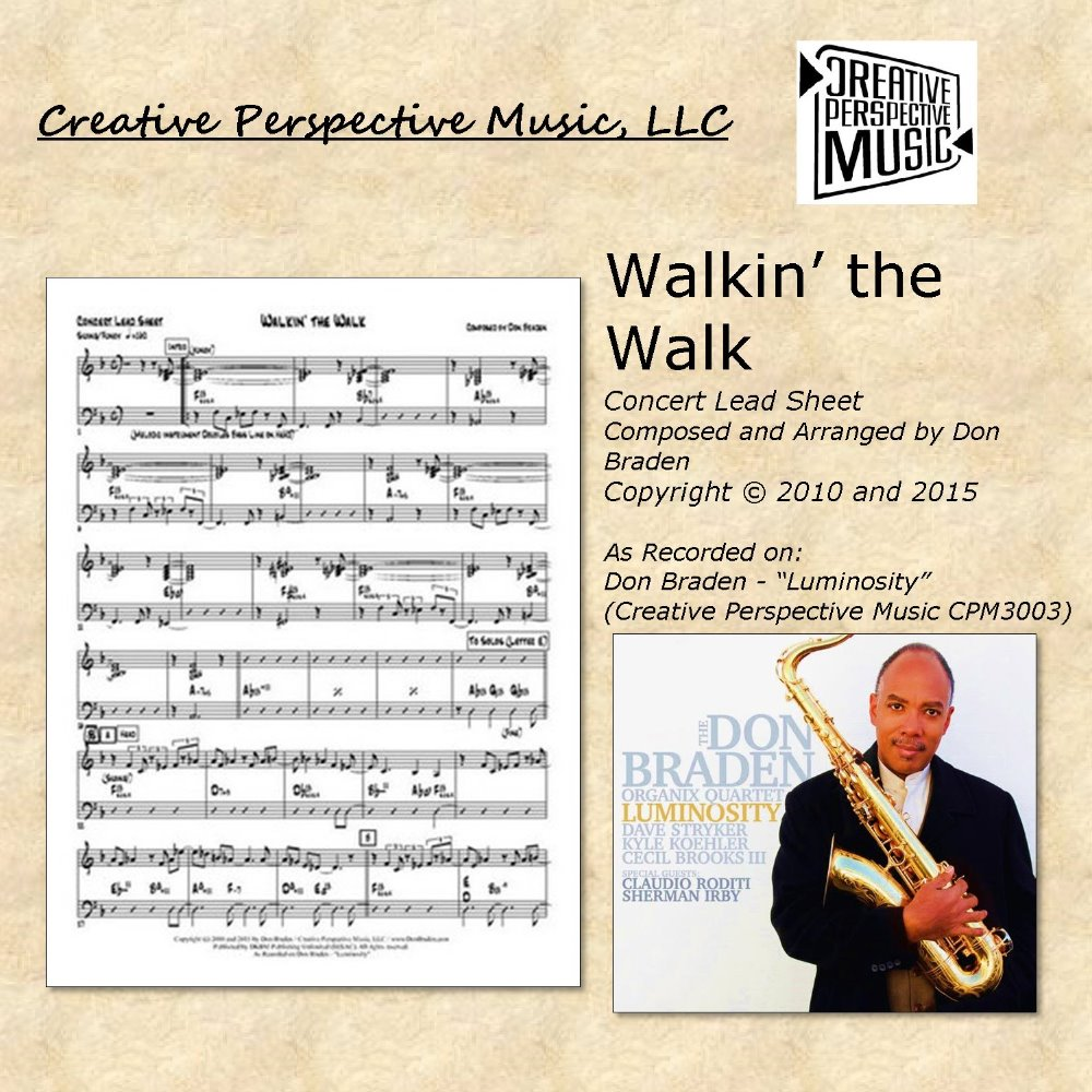 Walkin' the Walk - Concert Lead Sheet