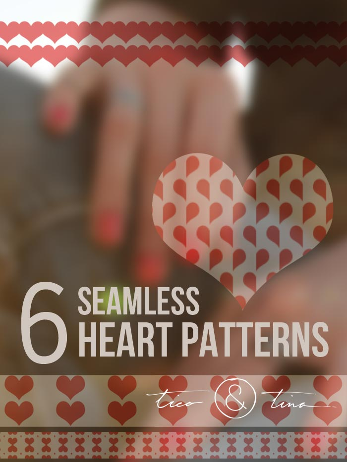 6 Seamless Heart Patterns