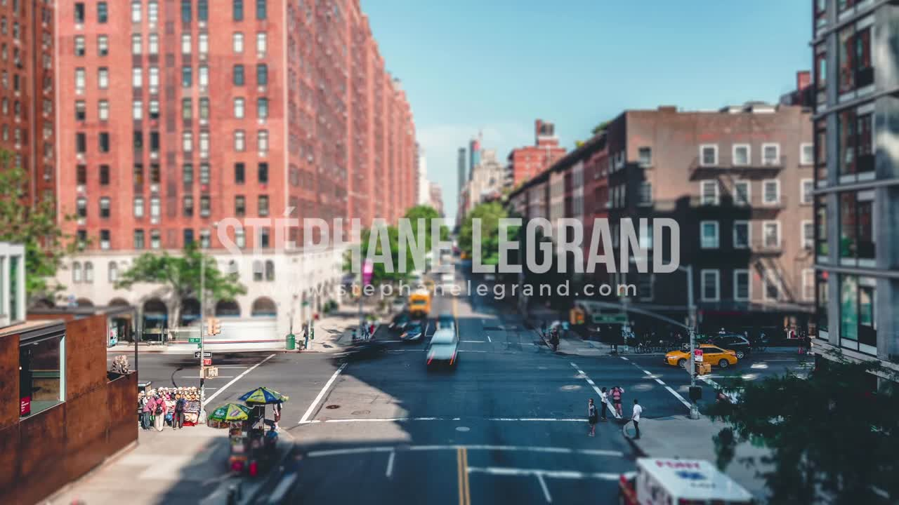 New York City , USA, Timelapse  - New York City from the High Line