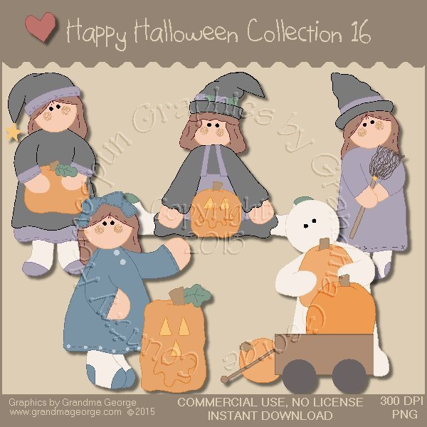 Happy Halloween Graphics Collection Vol. 16