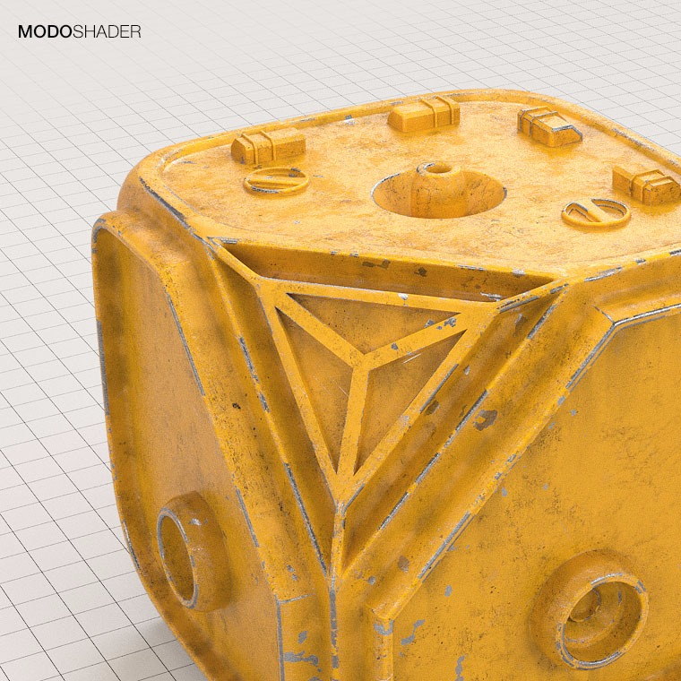 Hard Surface Modo Shader - Yellow Painted Metal