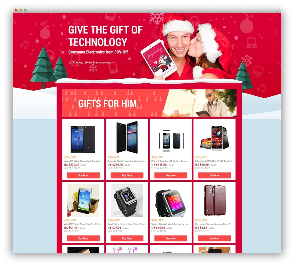 HTML Landing Page Affiliate Tecnology Products