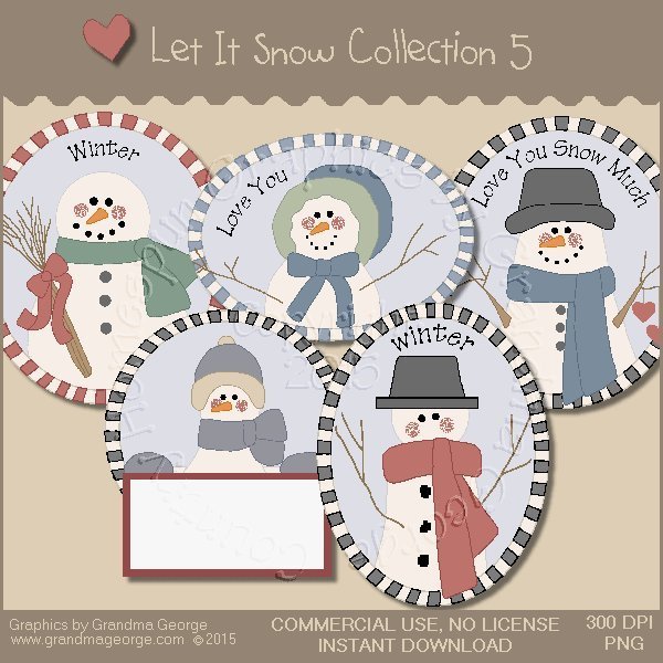 Let It Snow Country Graphics Collection Vol. 5