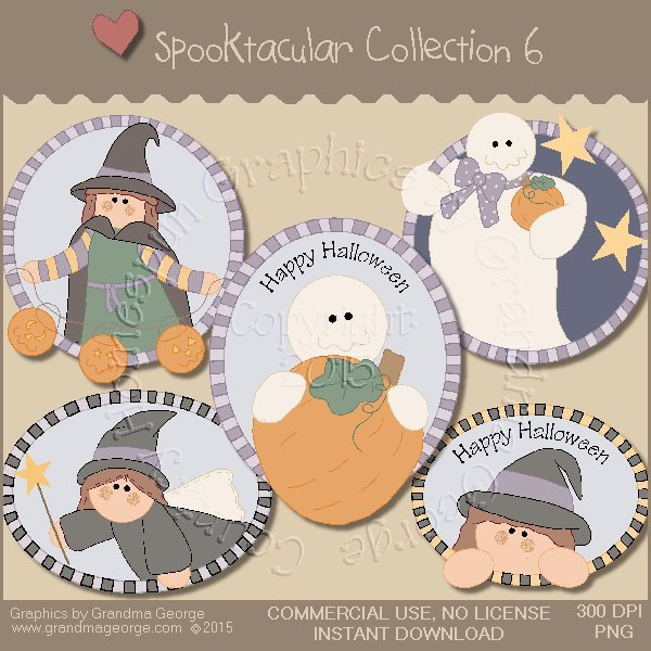 Spooktacular Halloween Graphics Collection Vol. 6