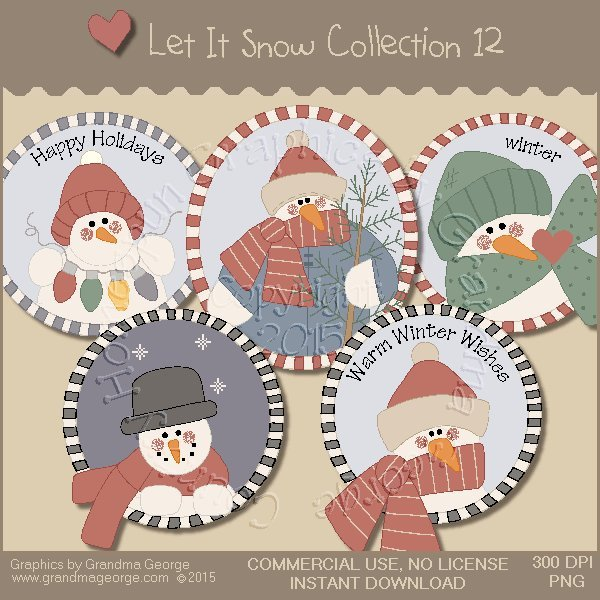 Let It Snow Country Graphics Collection Vol. 12