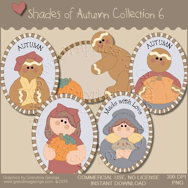Shades of Autumn Graphics Collection Vol. 6