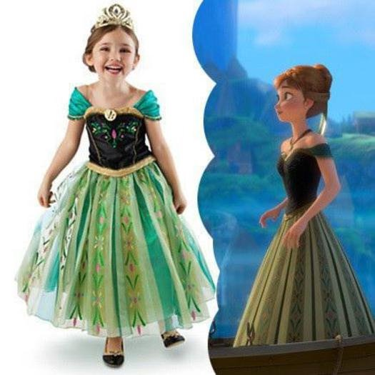 FROZEN Anna's Coronation Dress Size 2 3 4 6 7 8 10 Available