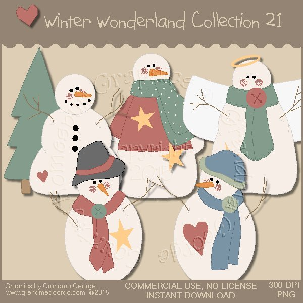 Winter Wonderland Country Graphics Collection Vol. 21