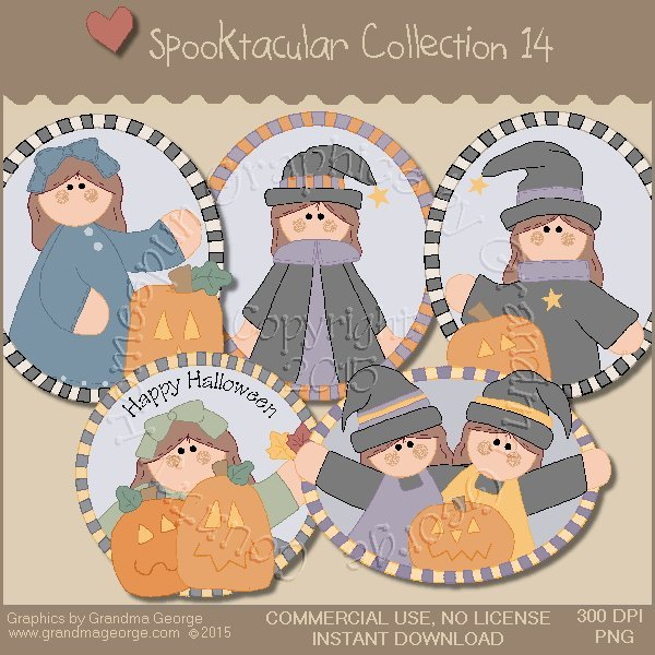 Spooktacular Halloween Graphics Collection Vol. 14