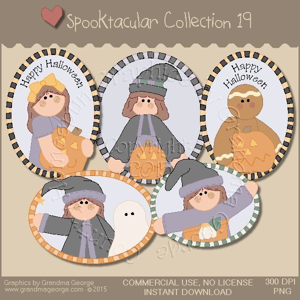 Spooktacular Halloween Graphics Collection Vol. 19