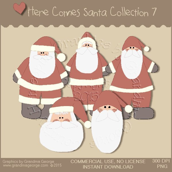 Here Comes Santa Country Graphics Vol. 7