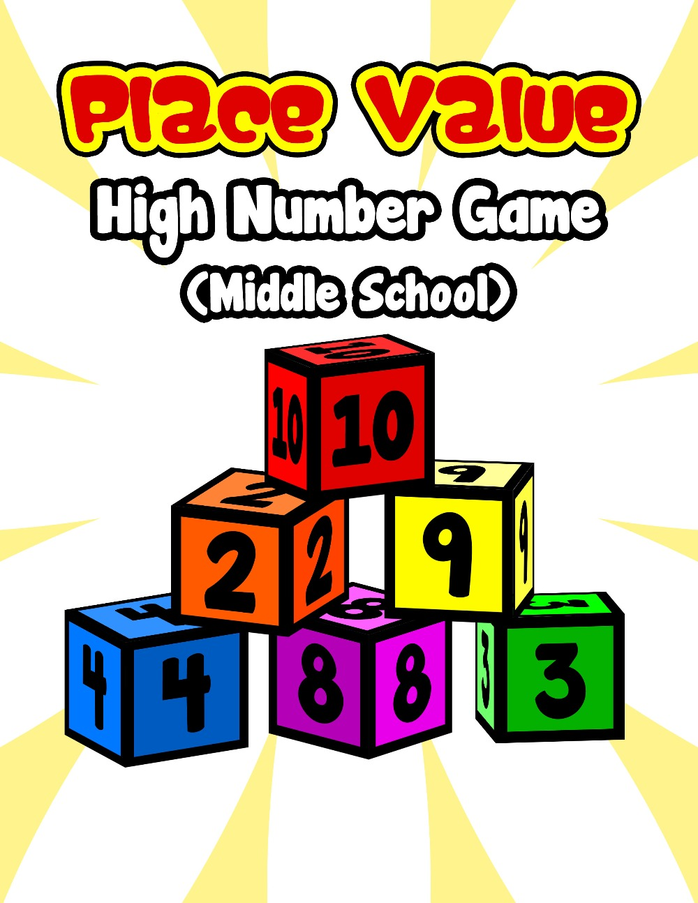 Place Value High Number Game (Middle School)