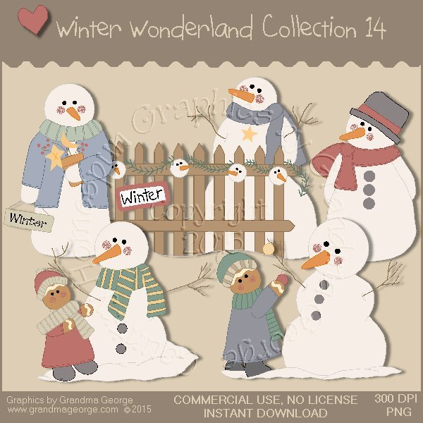 Winter Wonderland Country Graphics Collection Vol. 14