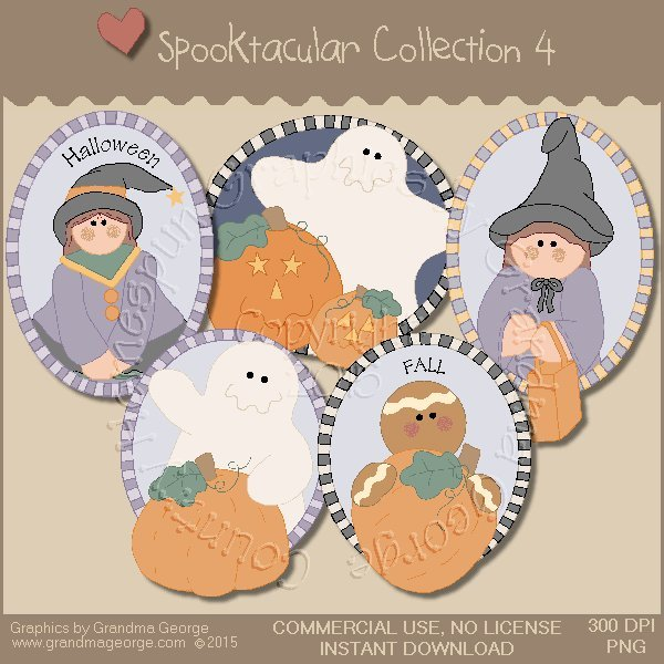 Spooktacular Halloween Graphics Collection Vol. 4