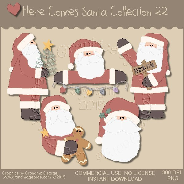 Here Comes Santa Country Graphics Vol. 22
