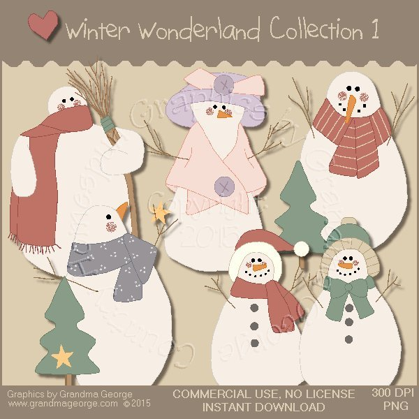 Winter Wonderland Country Graphics Collection Vol. 1