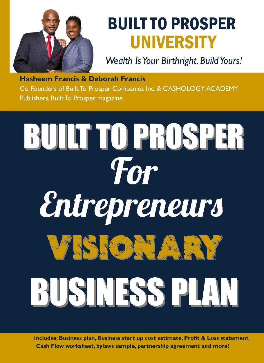 Built To Prosper Entrepreneur's Visionary Business Plan (eforms)