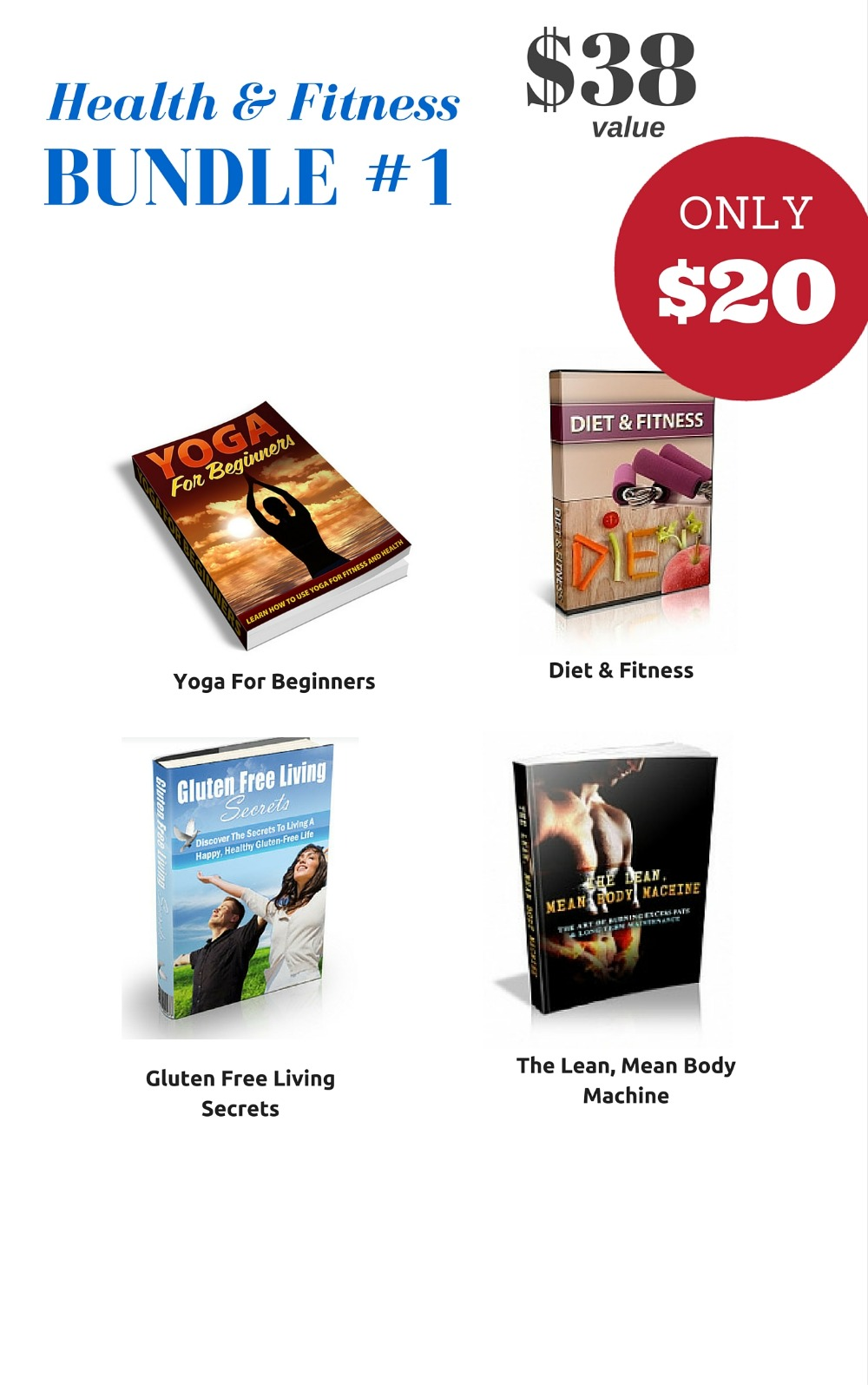 Health & Fitness Bundle #1 - $38 VALUE FOR ONLY $20