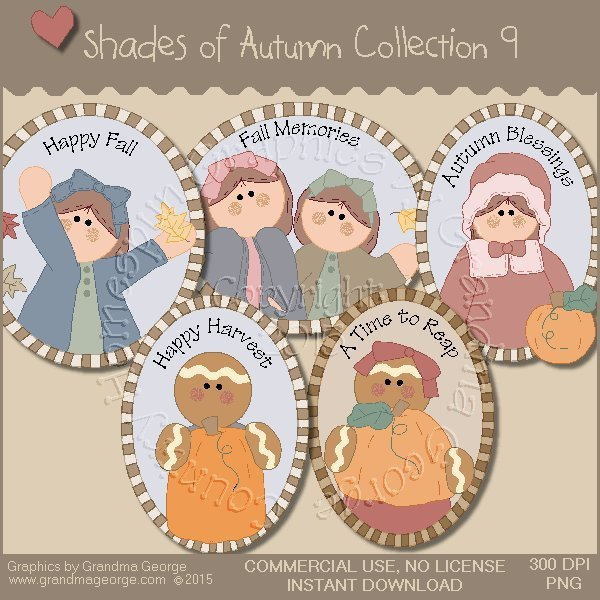 Shades of Autumn Graphics Collection Vol. 9