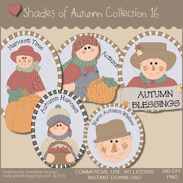 Shades of Autumn Graphics Collection Vol. 16