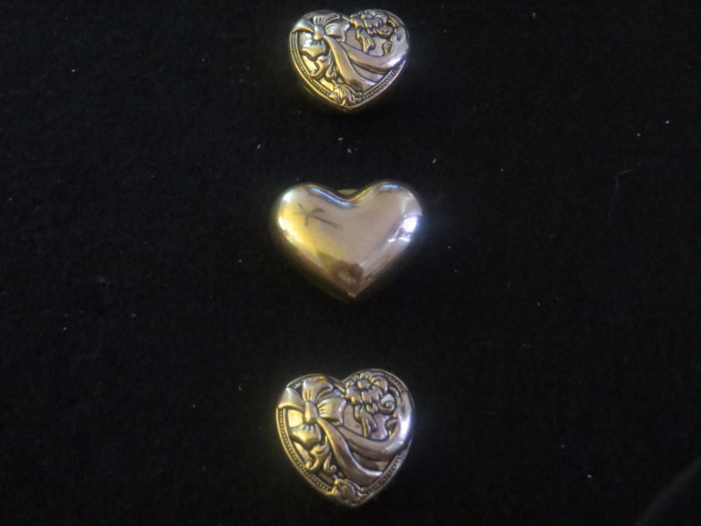 Vintage Romantic Heart Button Covers