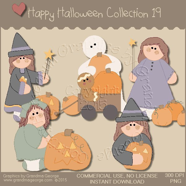 Happy Halloween Graphics Collection Vol. 19