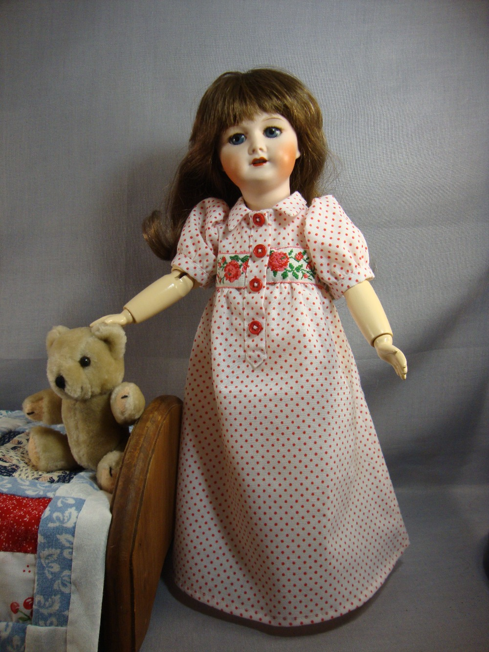 Rosette Pattern Sommeil Nightgown