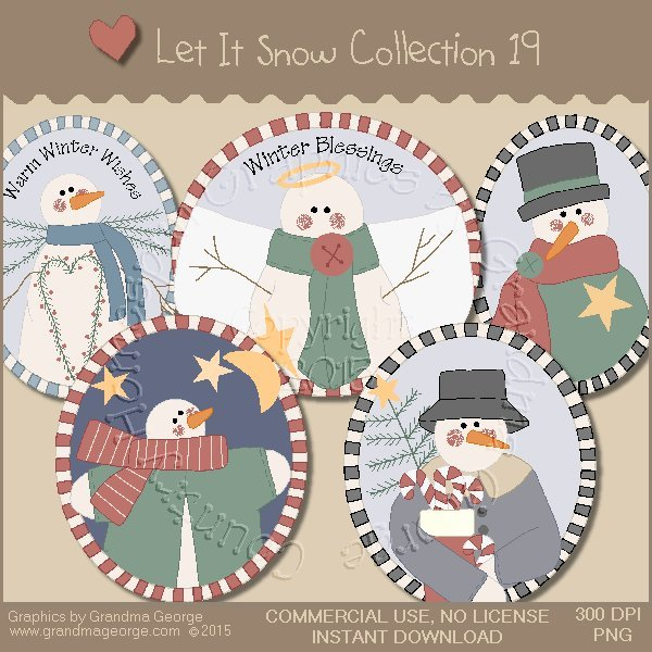 Let It Snow Country Graphics Collection Vol. 19
